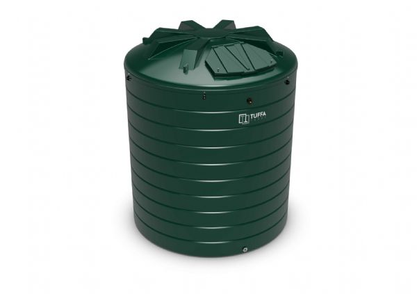 15000 Litre Circular Heating Oil Tank - Plastic Bunded